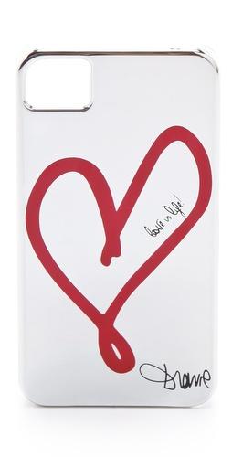 Valentine's Day Gift Guide - Diane von Furstenberg Metallic Single Heart iPhone 4 Case