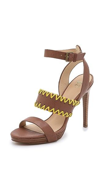 Joe'S Jeans Riana Platform Sandals - Brown/Yellow