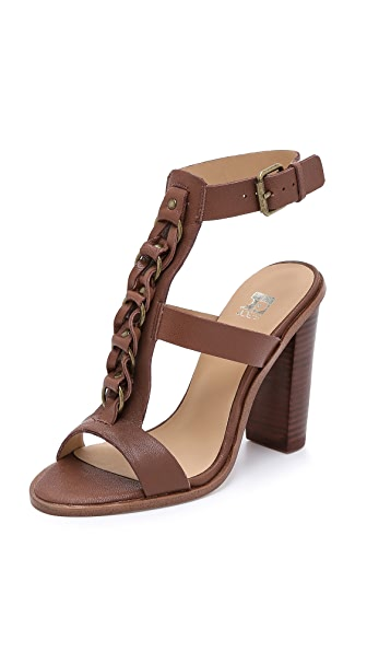 Joe'S Jeans Roscoe Chunky Heel Sandals - Red Brown
