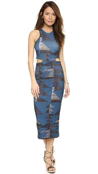 Mara Hoffman Ponte Cutout Dress - Loom Blue