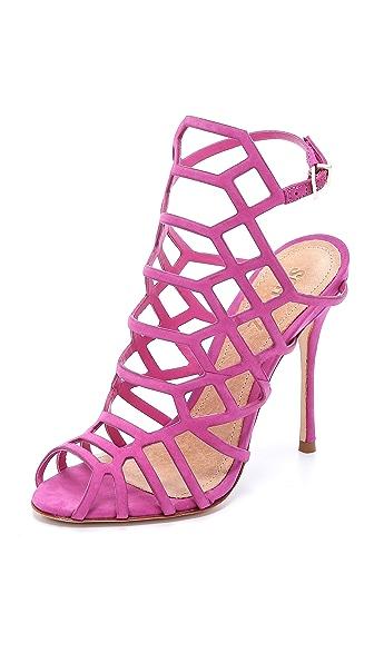 Schutz Juliana Caged Sandals - Pink