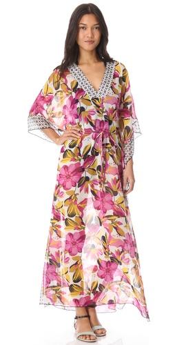 Tory Burch Catarina Caftan Cover Up Maxi Dress