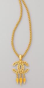 WGACA Vintage Vintage Chanel CC Arrow Necklace