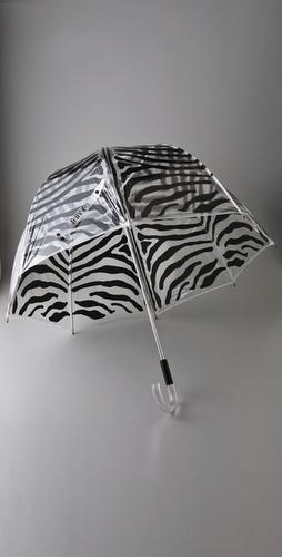 Felix Rey Clear Bubble Zebra Umbrella
