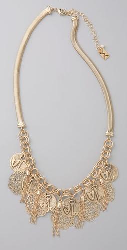 Juliet & Company Lace & Coins Necklace