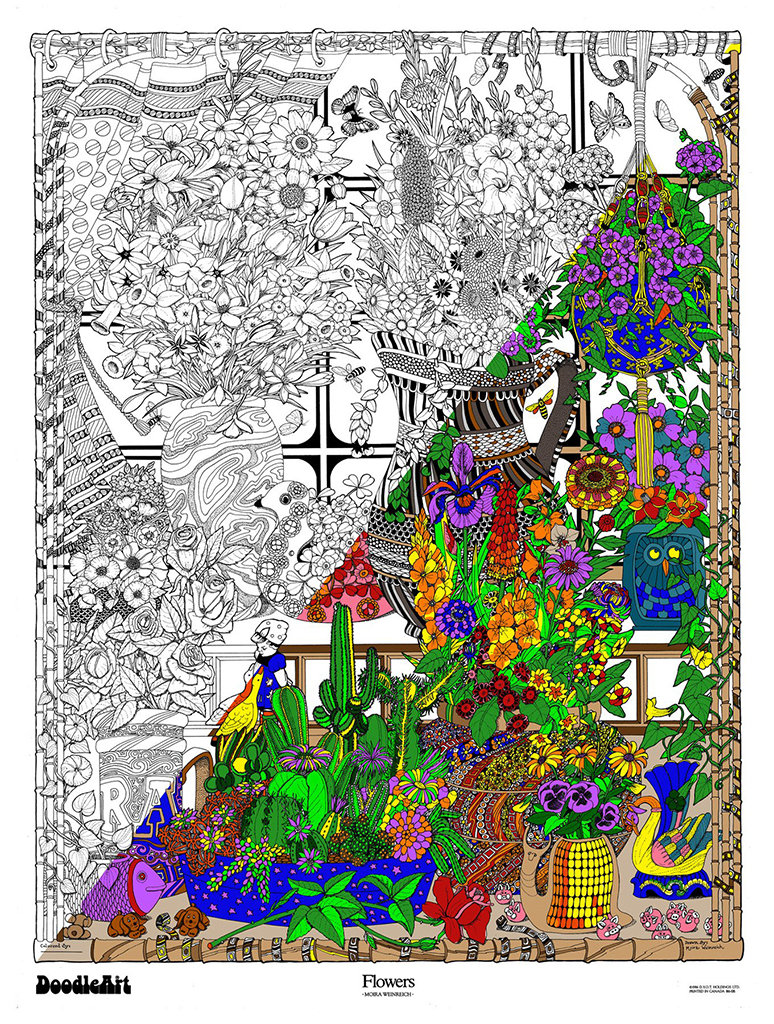 This is a graphic of Genius giant coloring posters in tubes