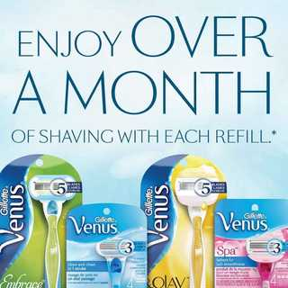 Enjoy over a month of shaving