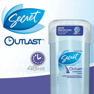 FREE Secret Clear Gel Outlast.