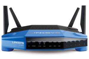 Linksys WRT1900AC Dual Band Gigabit Wi-Fi Router Product Shot