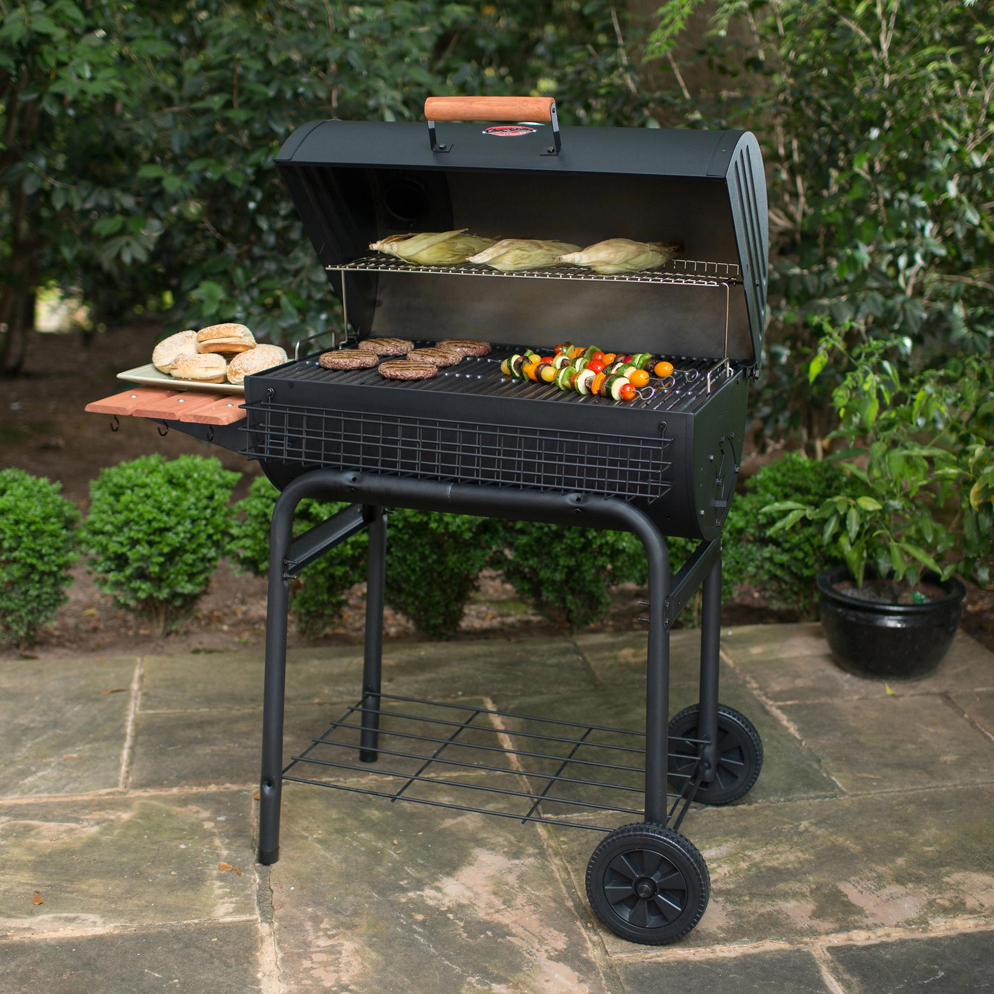 Charcoal Grill Smoker Barbecue Weber BBQ Heavy-duty Steel ... on Outdoor Grill Patio id=36891