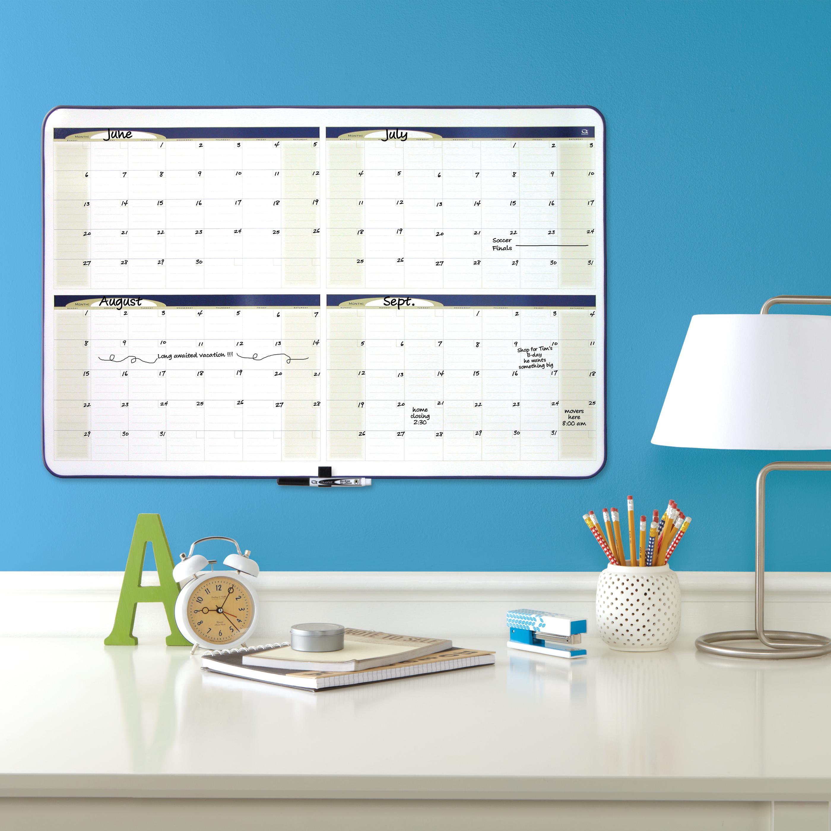 Amazon.com : Quartet Dry Erase Board, 4-Month Planner, 23