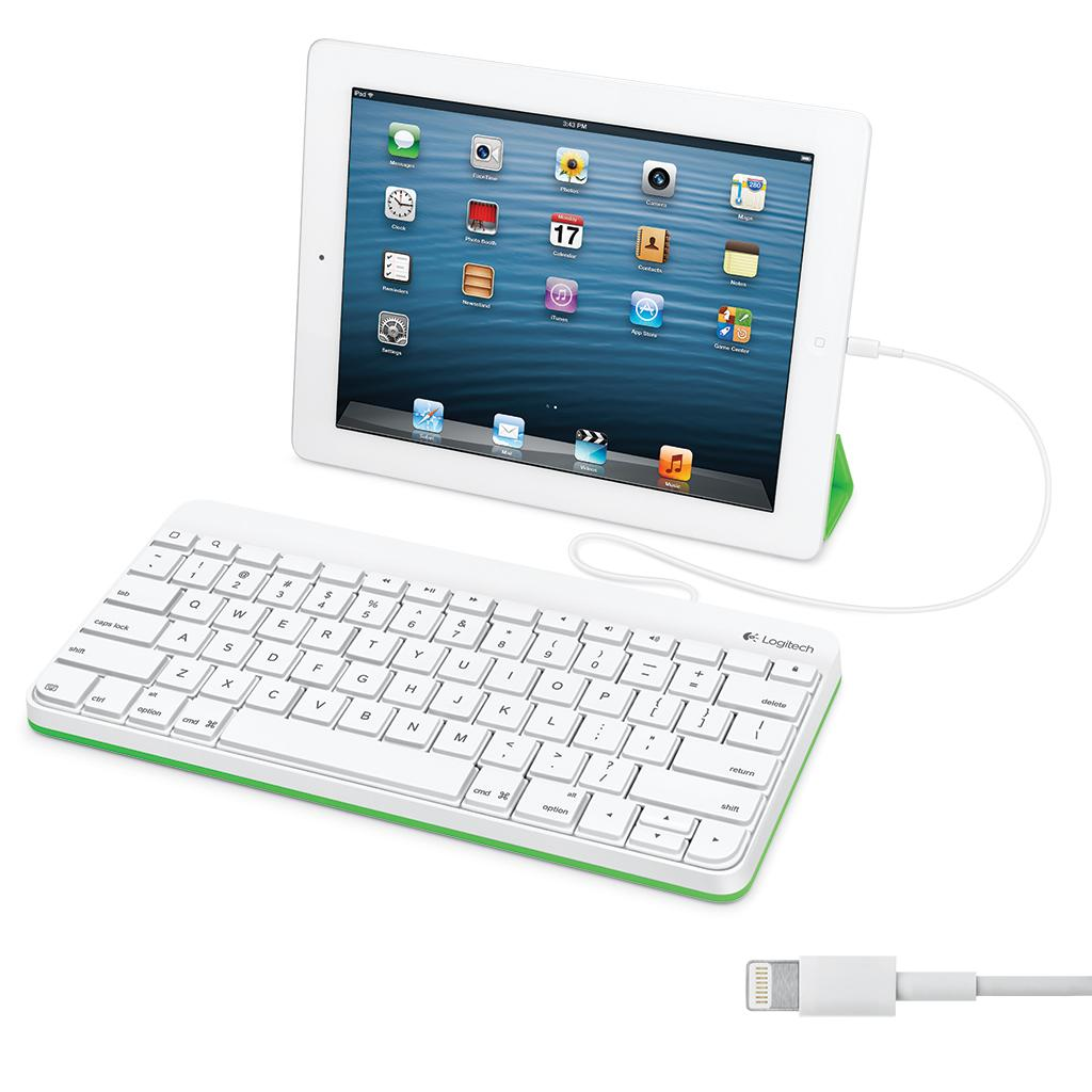 logitech wired keyboard for ipad with lightning connector 920 006341 new 826653563606 ebay. Black Bedroom Furniture Sets. Home Design Ideas