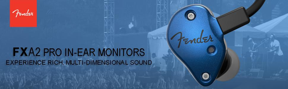 Fender FXA2 Pro In-Ear Monitors Blue