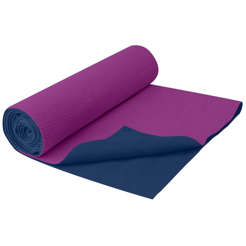 Amazon.com : Gaiam Travel Yoga Mat, Blue : Yoga Towels