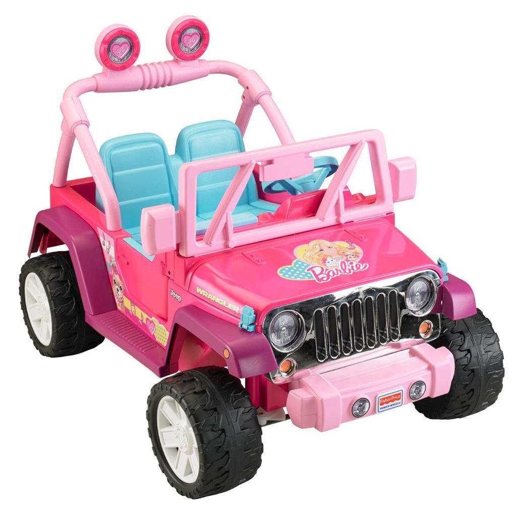 Amazon.com: Power Wheels Barbie Jammin Jeep Wrangler, Dark