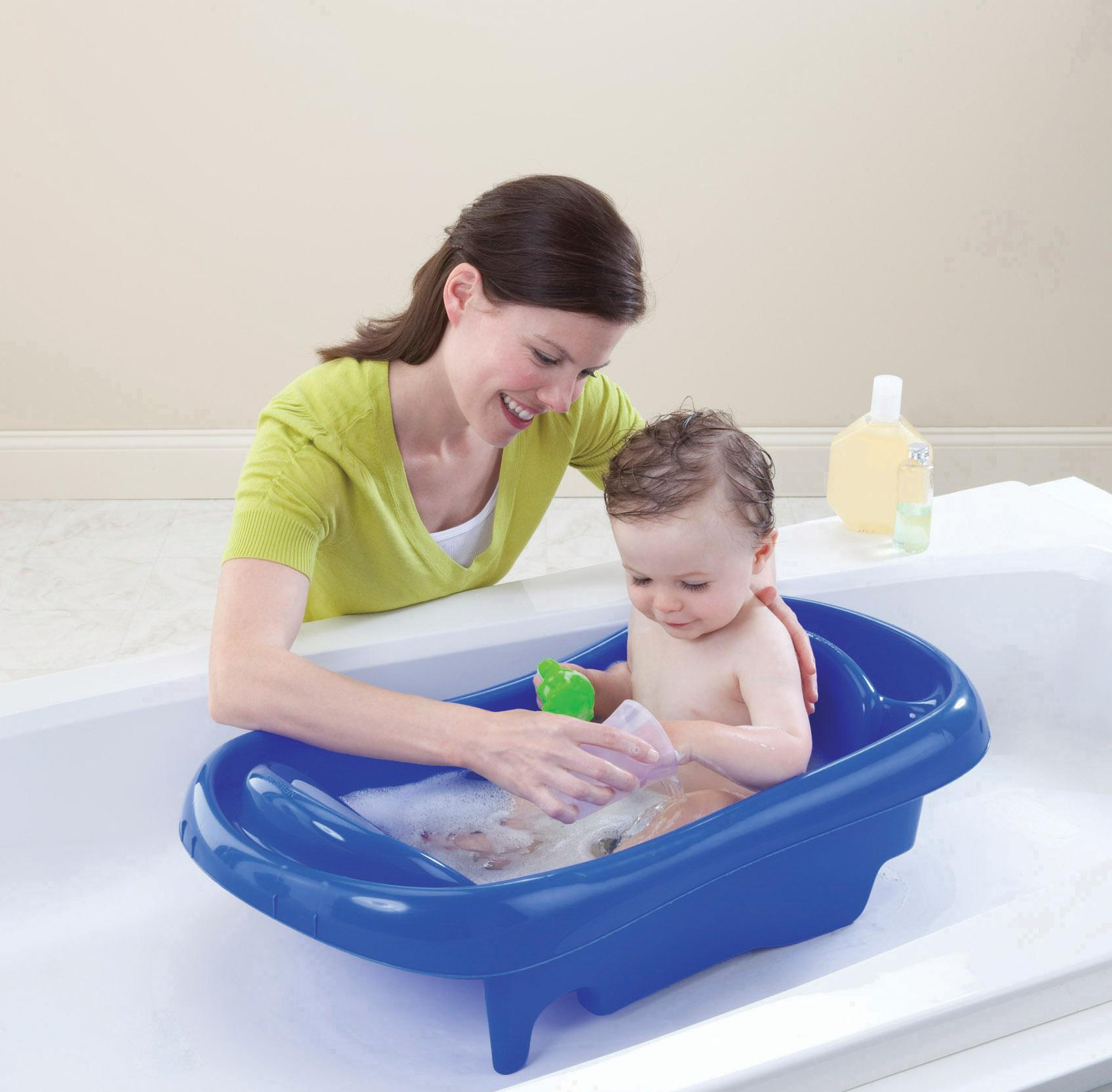 Baby Bathing Tubs Seats Infant To Toddler Tub w/Mesh Sling Soft ...