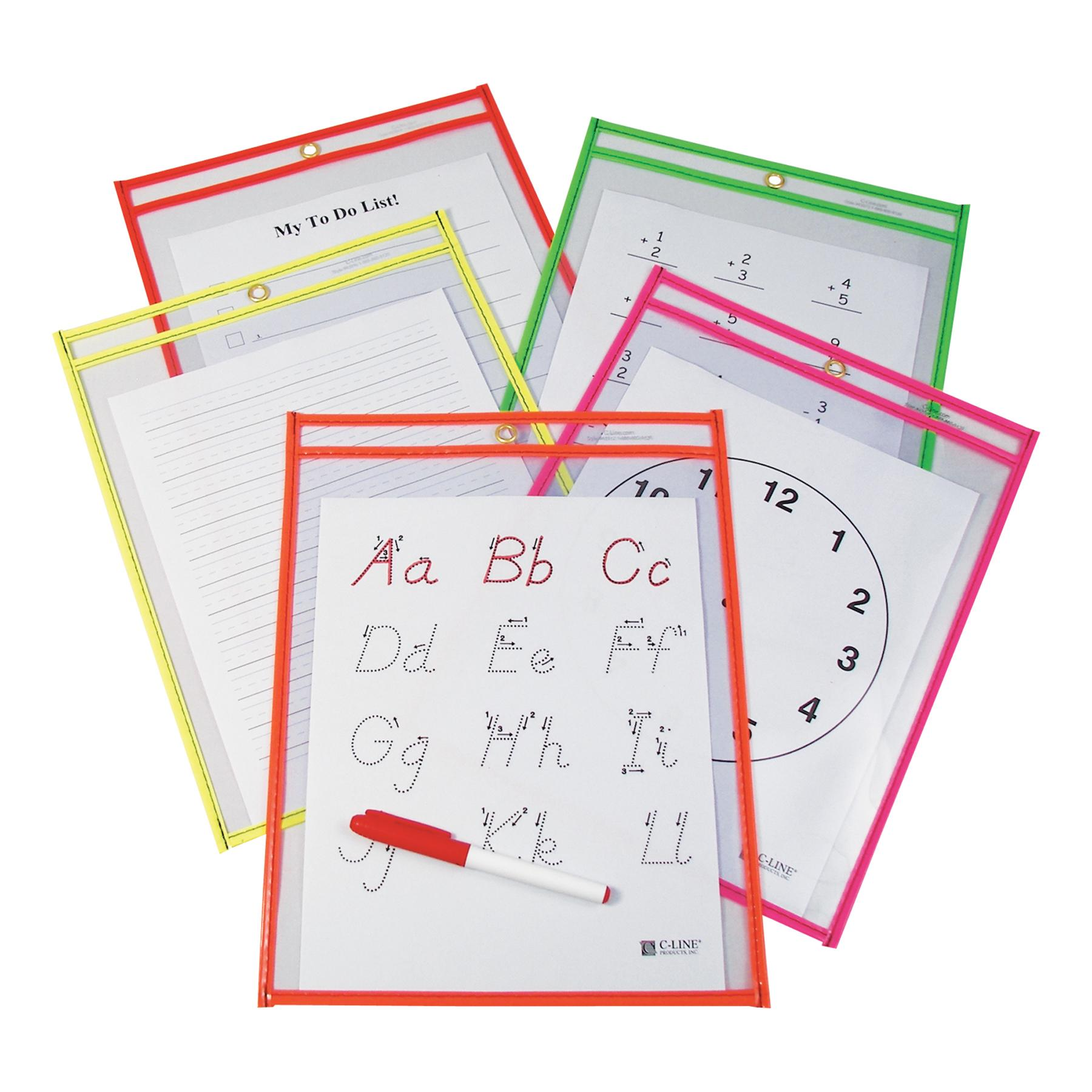 Super Heavyweight Dry Erase Pockets