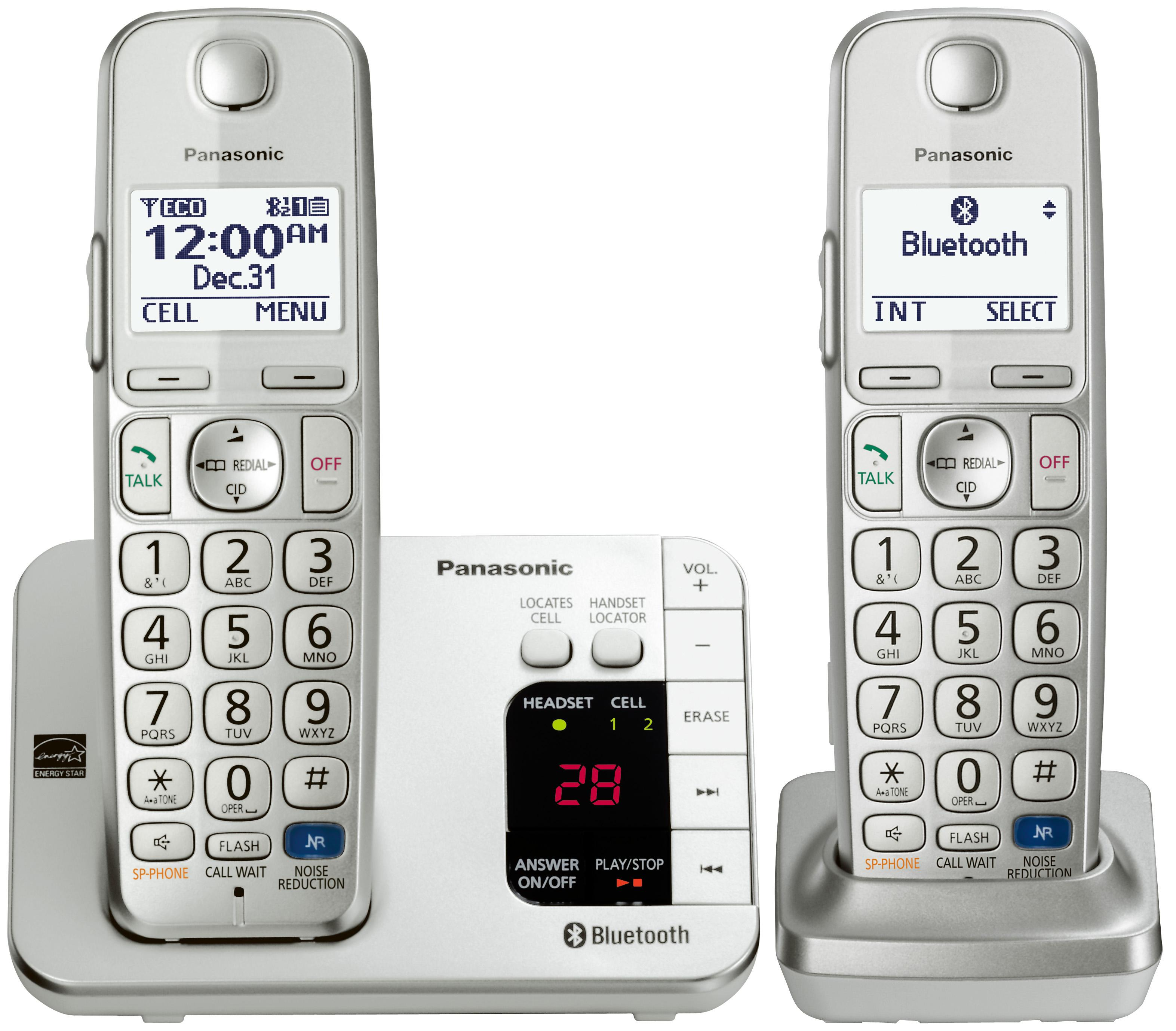 Amazon.com : Panasonic KX-TGE262S Link2Cell Bluetooth