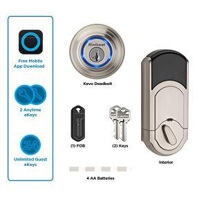 Kwikset Kevo Smart Deadbolt Door Lock Keyless Bluetooth