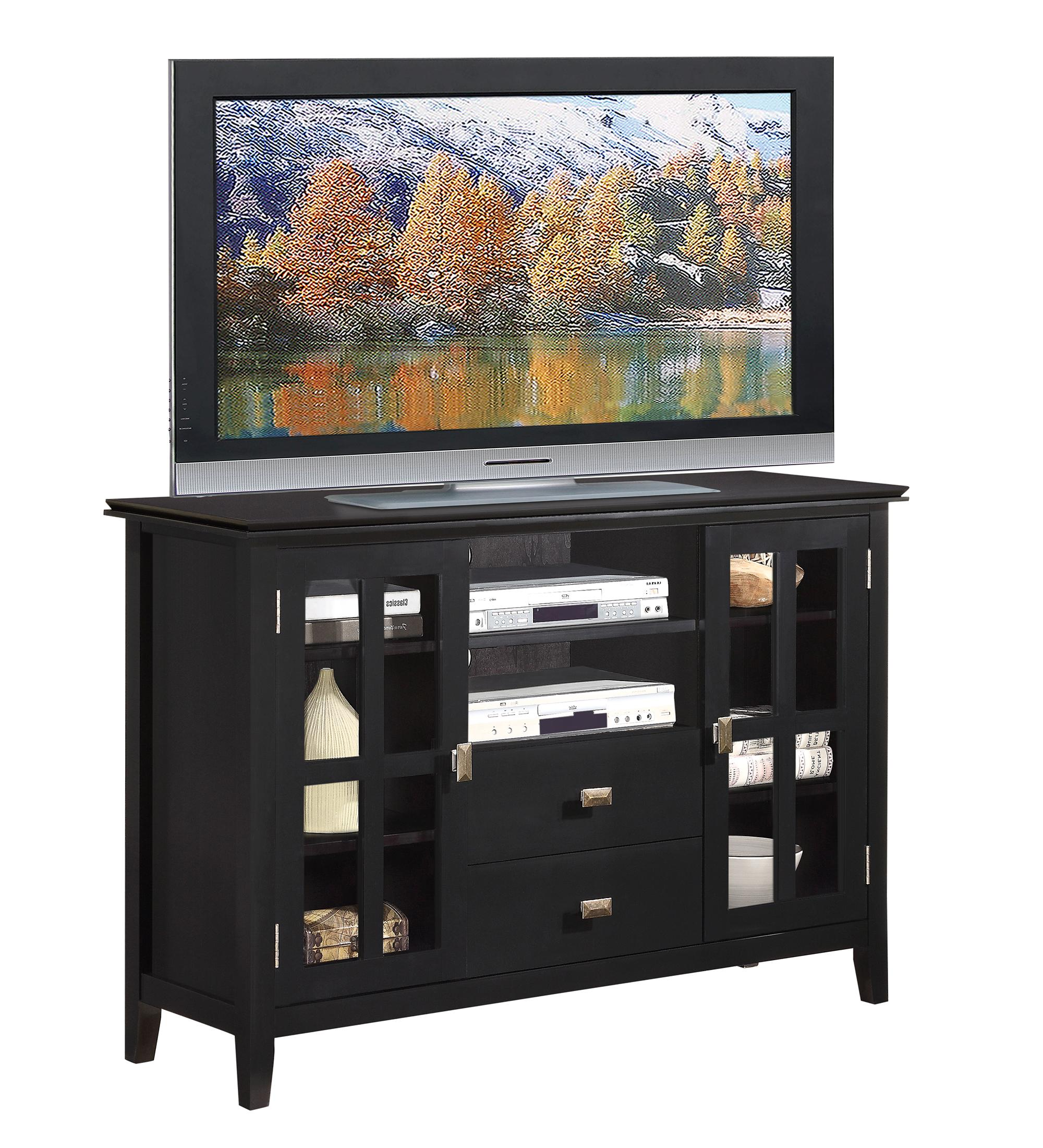 tall console cabinet simpli home axchol005 bl artisan collection 26994