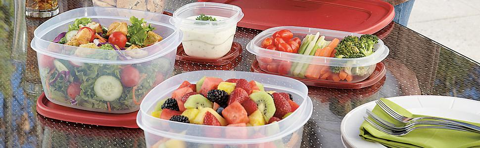 Using Rubbermaid Easy Find Lid Food Storage Container