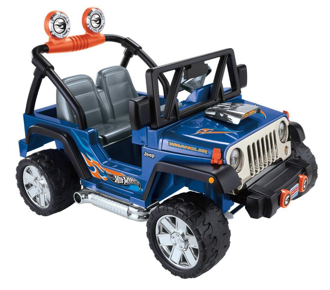 Amazon.com: Power Wheels Hot Wheels Jeep, Blue: Toys & Games