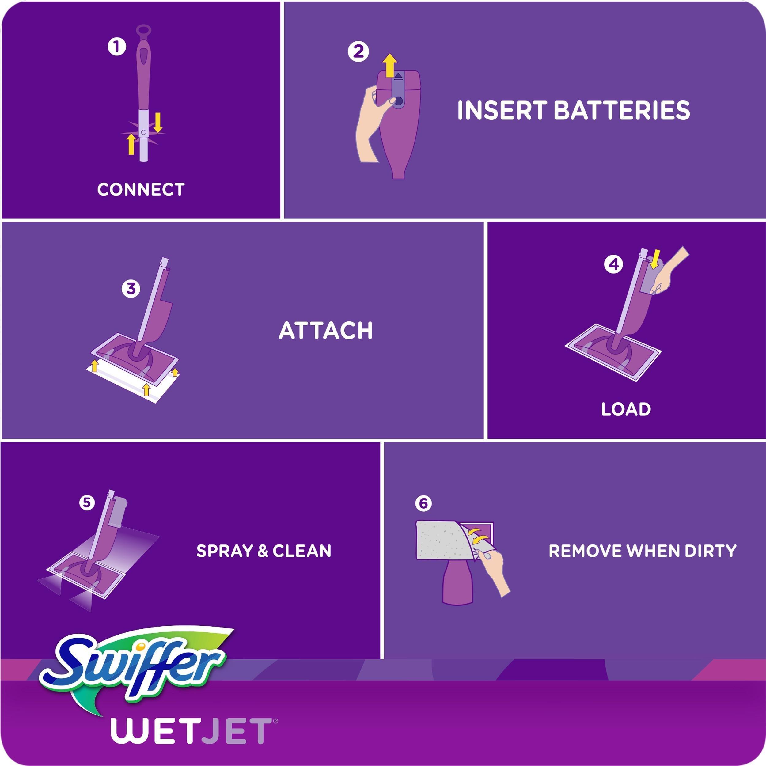 Amazon.com: Swiffer Wetjet Floor Mop Starter Kit