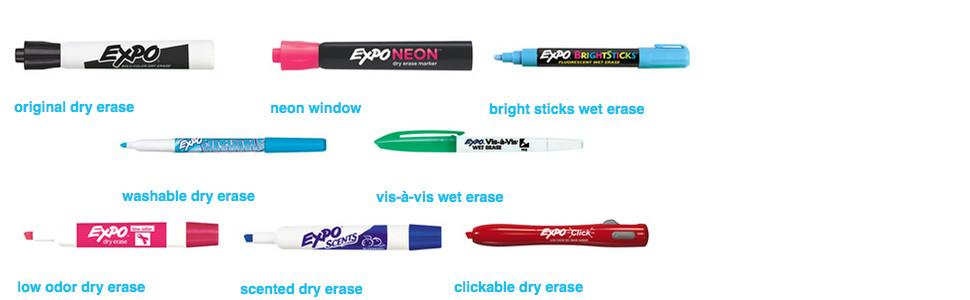 Amazon.com : Expo Low-Odor Dry Erase Markers, Fine Point