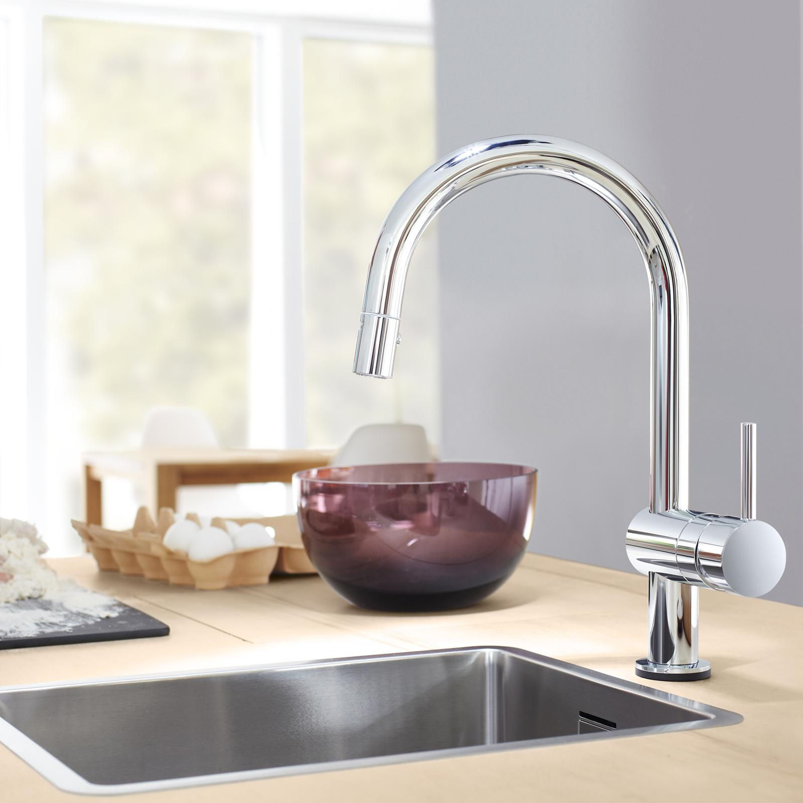 amazon grohe kitchen faucets amazon com grohe 31359000 minta touch pull down spray head kitchen faucet home improvement 5081