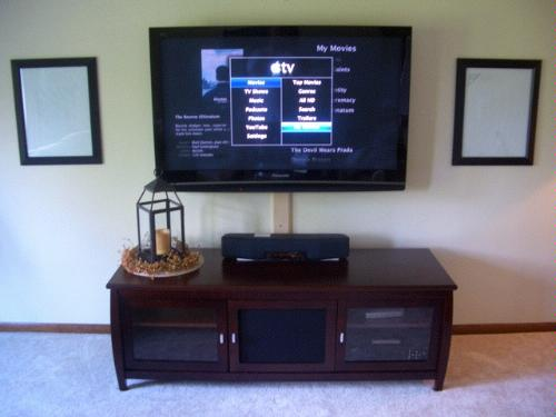 What is under your wall mounted tv page 7 babycenter for Table under tv