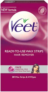 VEET Cold Wax Strips Face (20-Count) Product Shot
