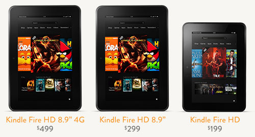 Amazon Kindle Fire Family