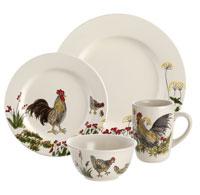 Paula Deen Dinnerware 16 Piece Stoneware Dinnerware Set Southern