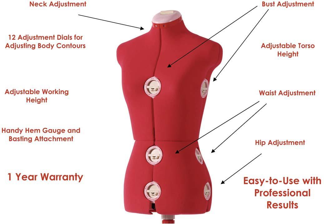 Red SINGER Dress Form