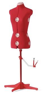 Singer dress form red large