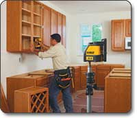 self install kitchen cabinets dewalt dw087k horizontal and vertical self leveling line 25916