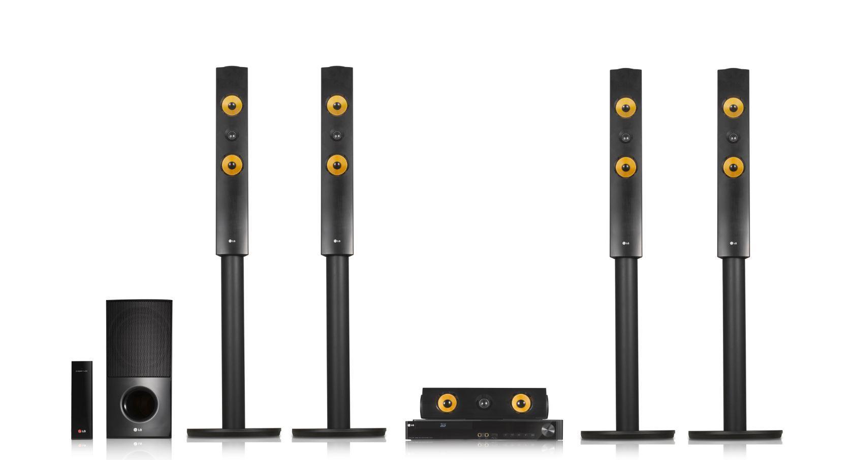 LG LHA855W 5.1 3D Blu-ray Heimkinosystem (1200 Watt