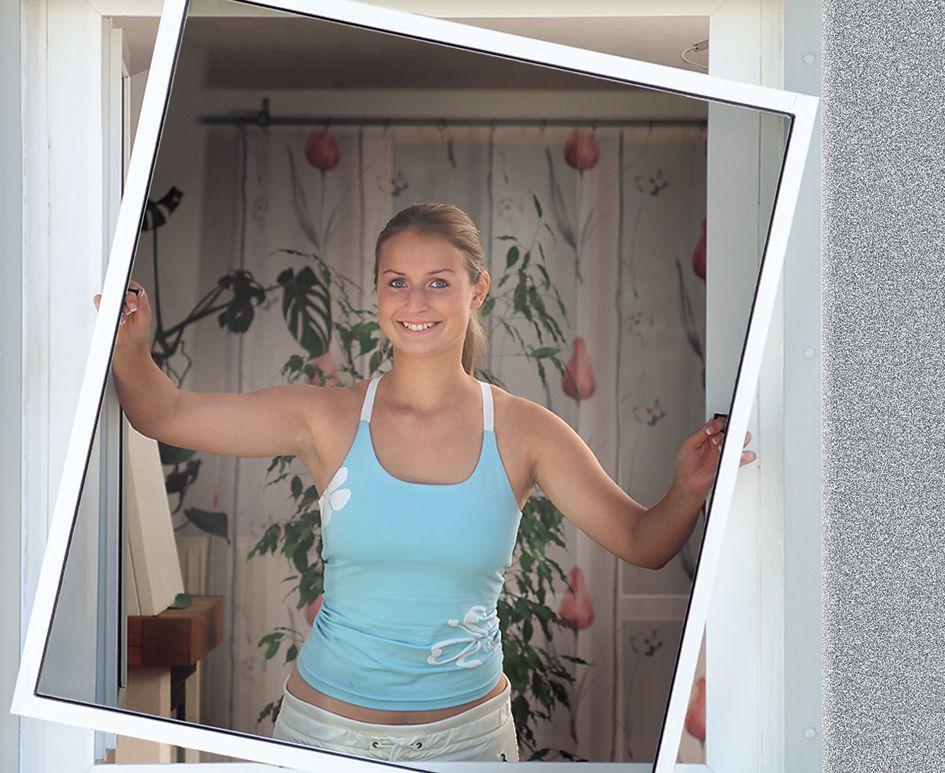 Schellenberg 50734 Insektenschutz-Fenster STANDARD, weiß
