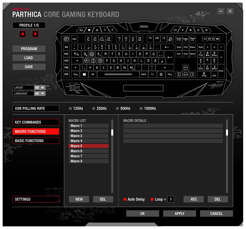 Speedlink Parthica Core Gaming Tastatur: Amazon.de