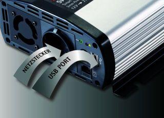 AEG 97120 Sinus-Spannungswandler SW 600 Watt, 12 Volt auf 230 Volt, mit LCD-Display, USB Ladebuchse, Fernsteuerungsmodul und Batteriewächterfunktion - Zusatzbild