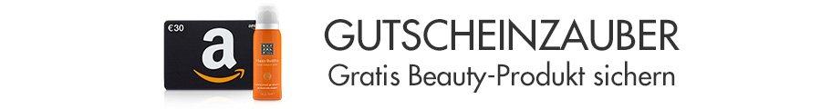 Gratis Beauty-Produkt beim Kauf eines Amazon.de Geschenkgutscheins