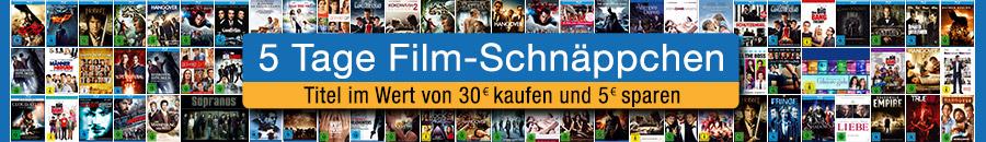 5 Tage Film-Schnäppchen (ab 30 EUR Einkauf + 5 EUR Rabatt) (Blu-ray & DVD)