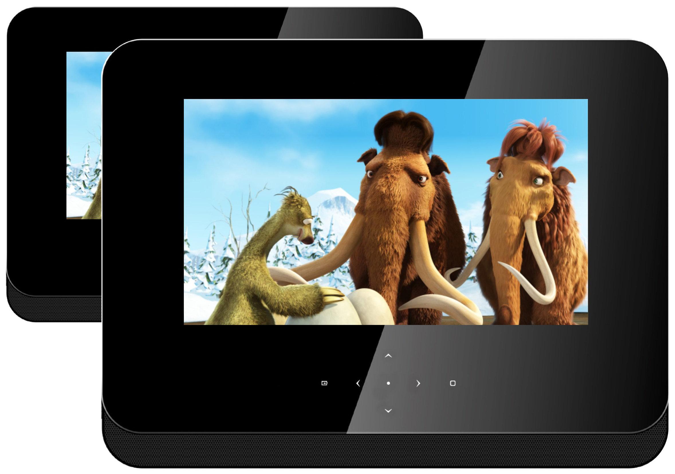 Odys Duo Tragbarer DVD-Player mit zusätzlichem 17,8 cm (7