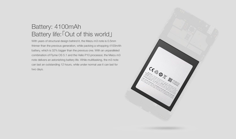 meizu m3 note battery