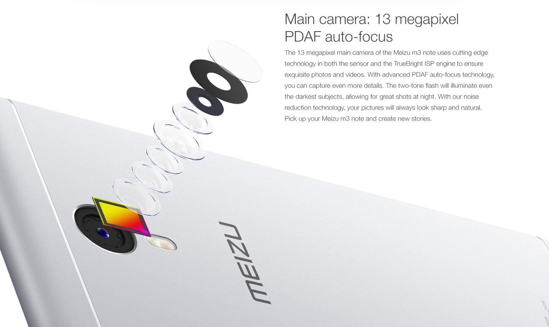 meizu m3 note camera