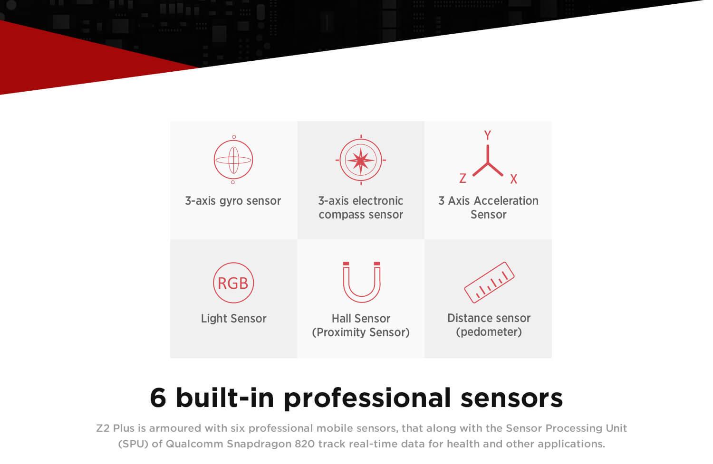 6 built-in professional sensors