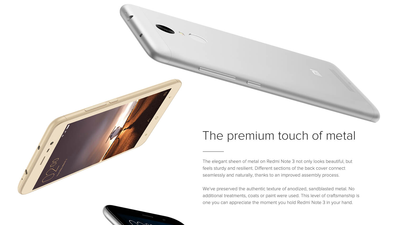 redmi note 3 with Metal Finish